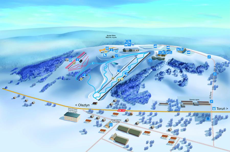 stok narciarski Kurza Góra